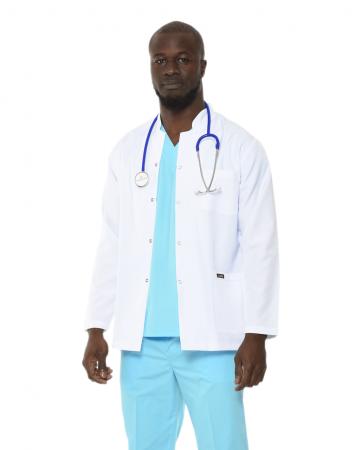 Hakim Yaka Erkek Kısa Boy Doktor Önlüğü
