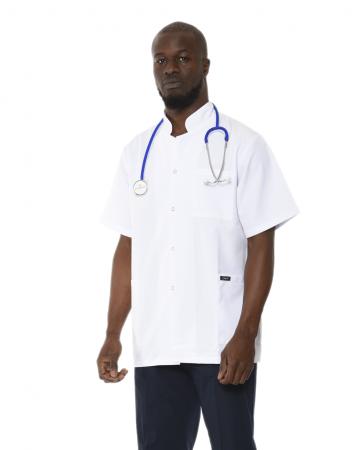 Hakim Yaka Erkek Kısa Kol Doktor Önlüğü