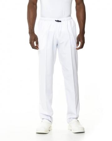 Klasik Erkek Beyaz Doktor & Hemşire Pantolonu