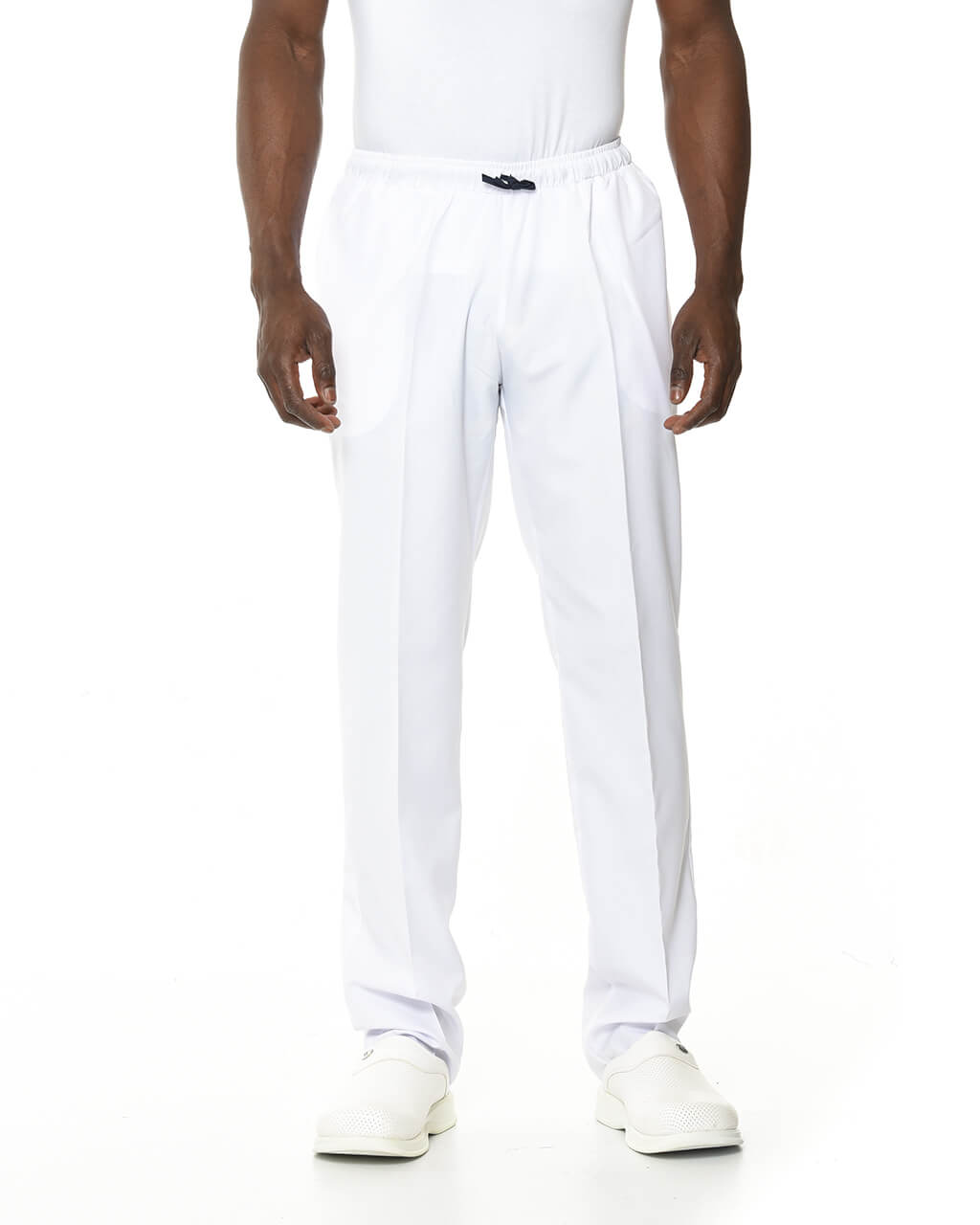 %100 Pamuk Likralı Beyaz Pantolon