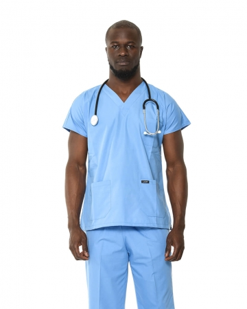 Klasik Erkek İndigo Mavisi Doktor & Hemşire Forması