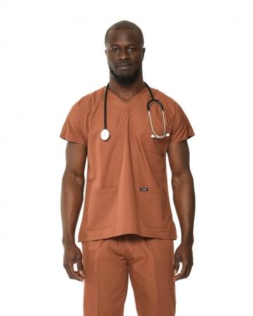Klasik Erkek Kahverengi Doktor & Hemşire Forması