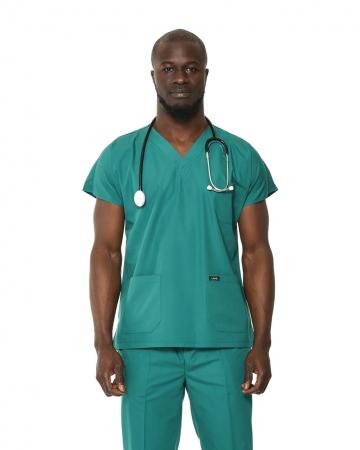 Klasik Erkek Petrol Yeşili Doktor & Hemşire Forması