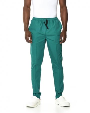 Klasik Erkek Petrol Yeşili Doktor & Hemşire Pantolonu