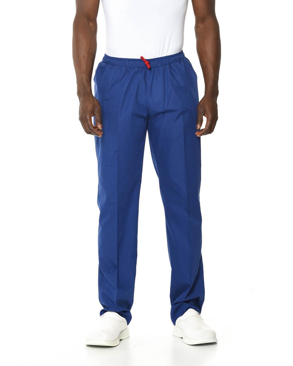 %100 Pamuk Likralı Saks Mavisi Pantolon