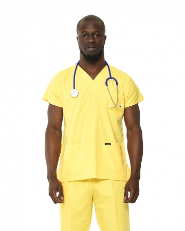 Klasik Erkek Sarı Doktor & Hemşire Forması