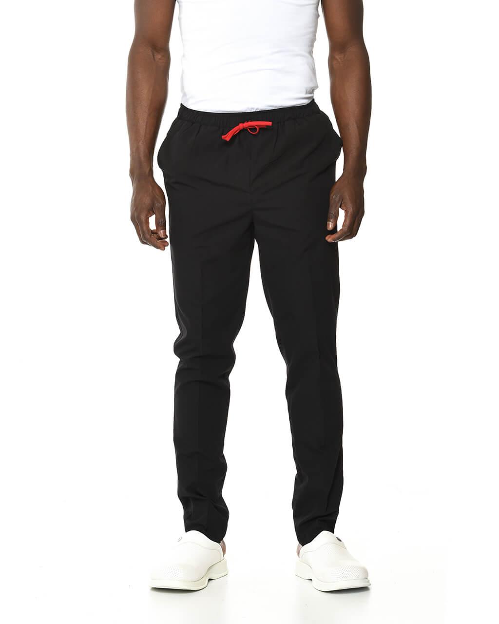 %100 Pamuk Likralı Siyah Pantolon