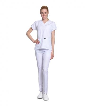 Kadın Terrycotton Beyaz Doktor & Hemşire Forması Takımı