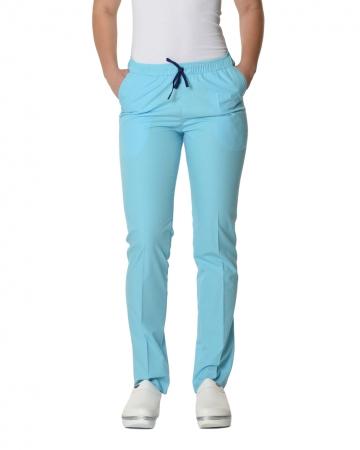 Klasik Kadın Çelik Mavisi Doktor & Hemşire Pantolonu