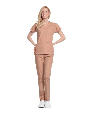 Kadın Terrycotton Deve Tüyü Doktor & Hemşire Forması