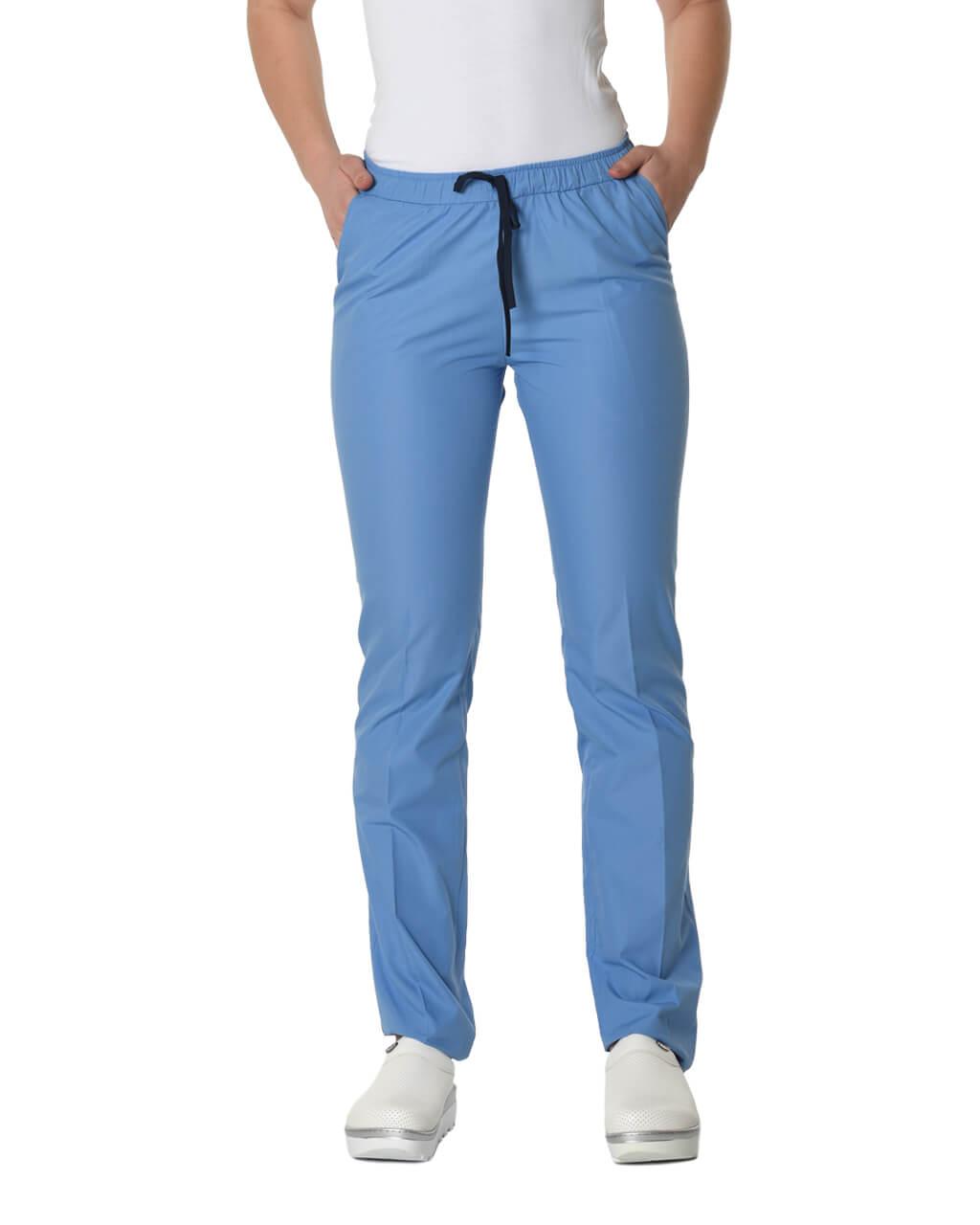 %100 Pamuk Likralı İndigo Mavisi Pantolon