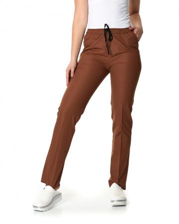 Klasik Kadın Kahverengi Doktor & Hemşire Pantolonu