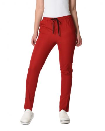 Klasik Kadın Kırmızı Doktor & Hemşire Pantolonu