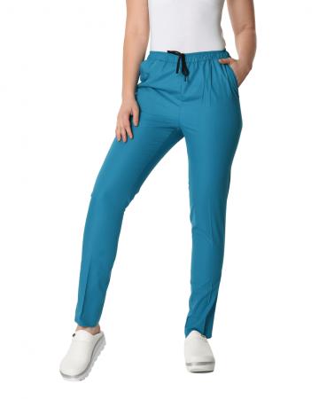 Klasik Kadın Petrol Mavisi Doktor & Hemşire Pantolonu