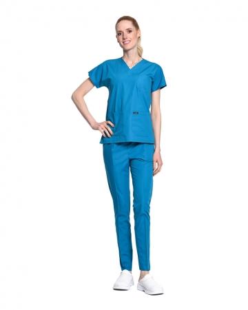 Kadın Terrycotton Petrol Mavisi Doktor & Hemşire Forması Takımı