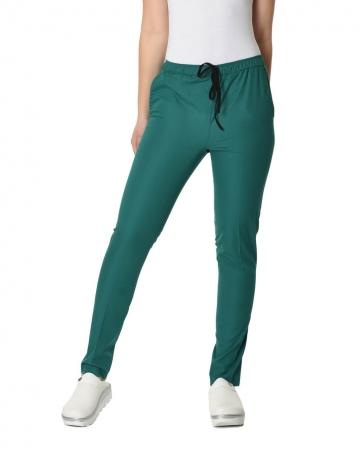 Klasik Kadın Petrol Yeşili Doktor & Hemşire Pantolonu