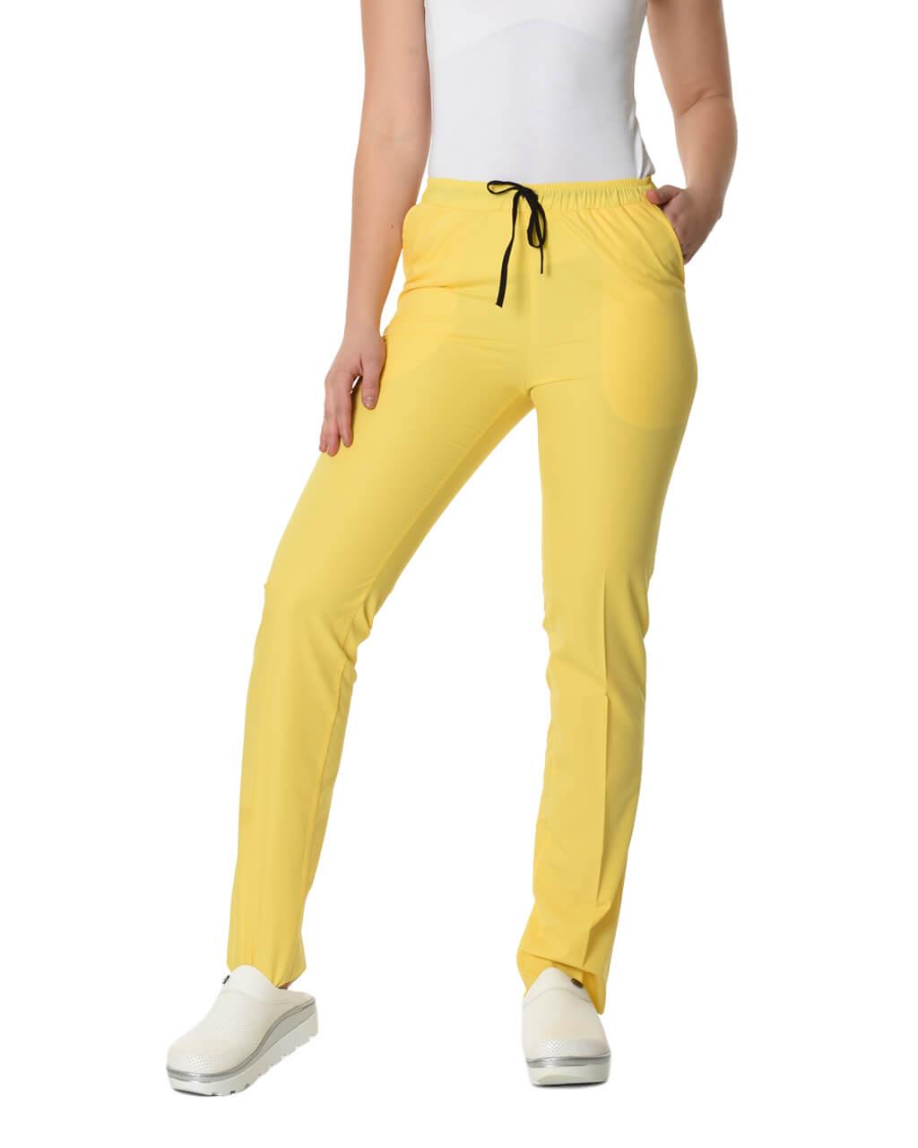 Terrycotton Sarı Pantolon