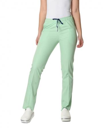 Klasik Kadın Su Yeşili Doktor & Hemşire Pantolonu