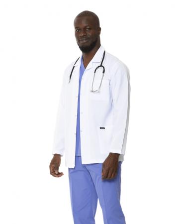 Klasik Yaka Erkek Kısa Boy Doktor Önlüğü