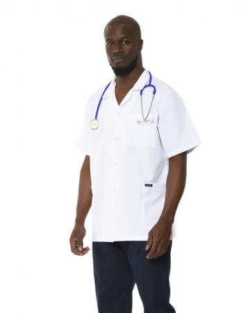 Klasik Yaka Erkek Kısa Kol Doktor Önlüğü