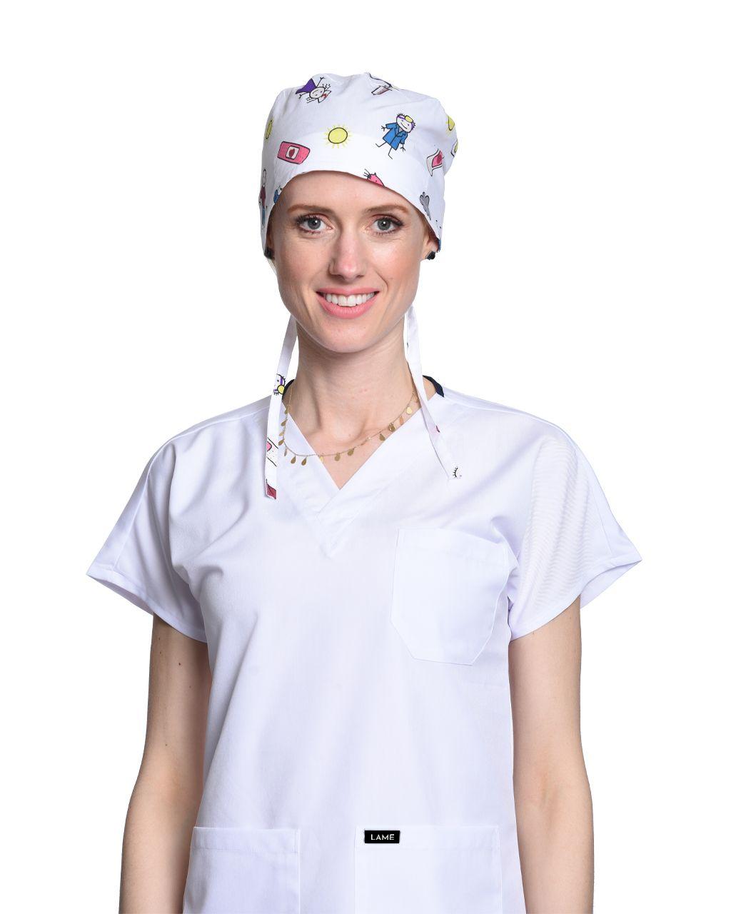 Doktor Desenli Beyaz Bone