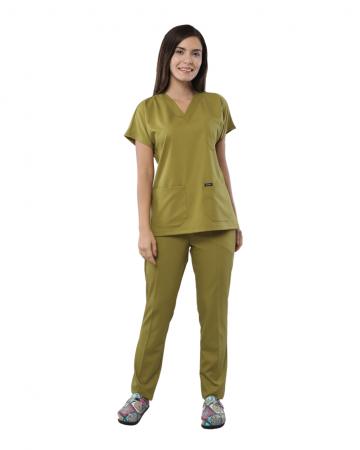 Relax Kadın Fıstık Yeşili Doktor & Hemşire Takımı