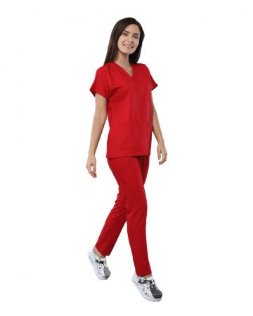 Relax Kadın Kırmızı Doktor & Hemşire Takımı