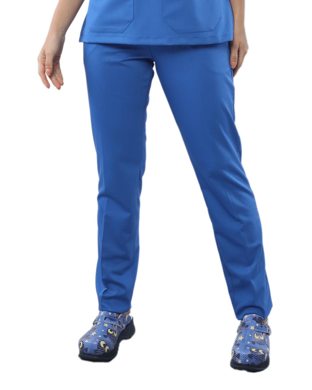 Likralı Mavi Pantolon