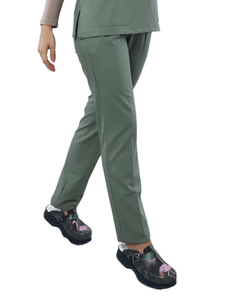 Likralı Mint Yeşili Pantolon