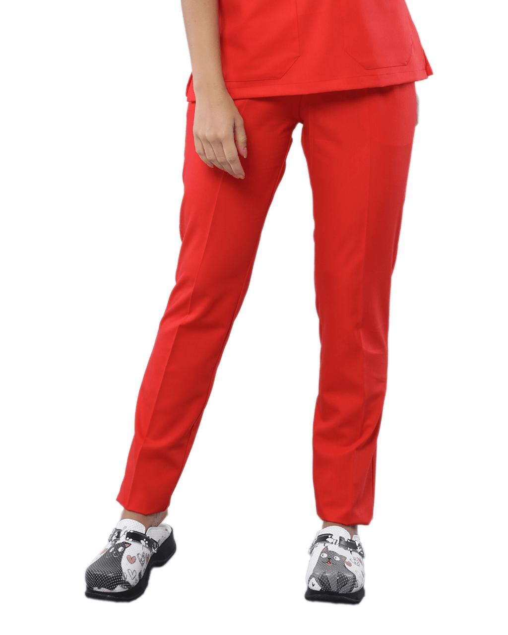 Likralı Turuncu Pantolon