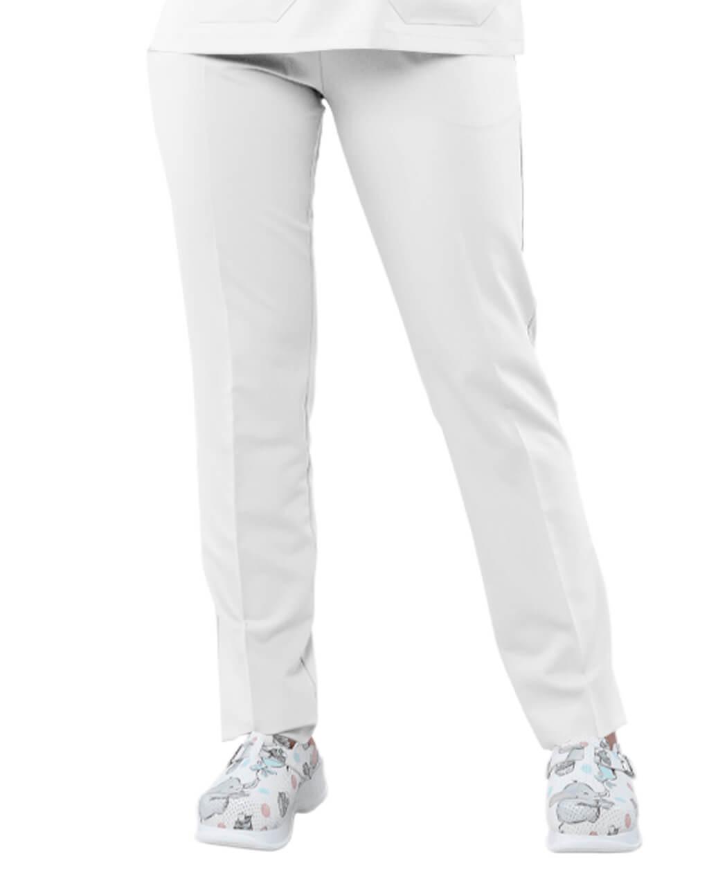 Likralı Beyaz Pantolon