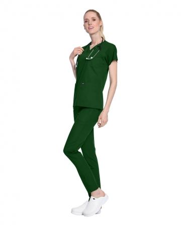 Terrycotton Avcı Yeşili Doktor ve Hemşire Forması Takımı