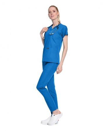 Terrycotton Çivit Mavisi Doktor ve Hemşire Forması Takımı