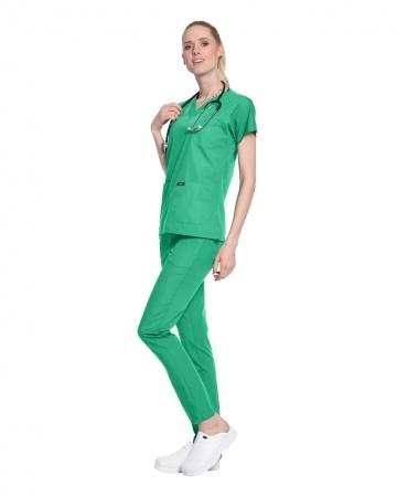 Terrycotton Petrol Yeşili Doktor ve Hemşire Forması Takımı