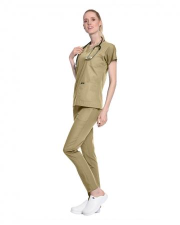Terrycotton Bej Doktor ve Hemşire Forması Takımı
