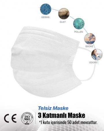 3 Katmanlı Telsiz Medikal Yüz Maskesi