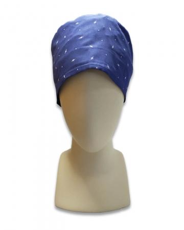 Şimşek Desenli Mavi Cerrahi Bone
