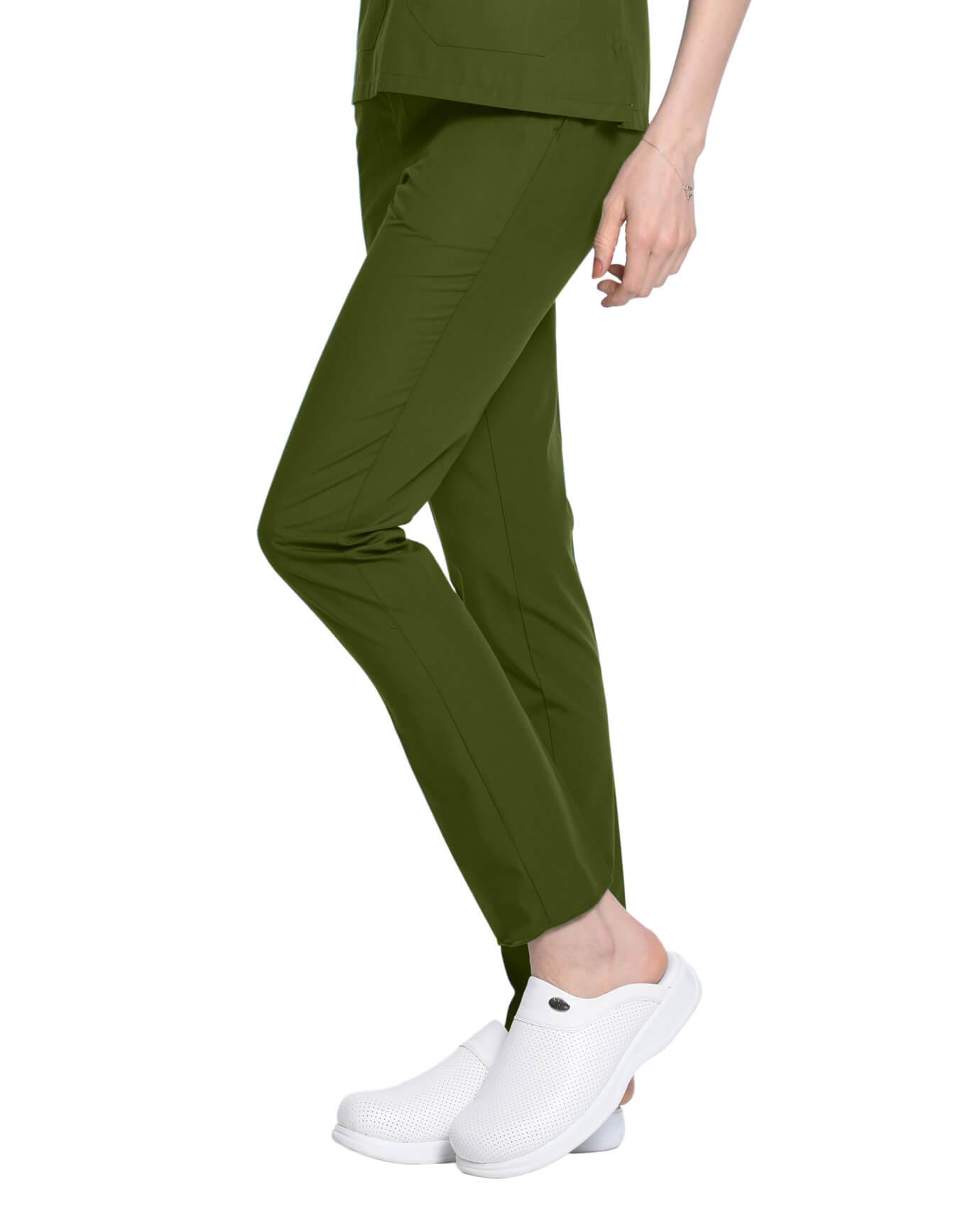 %100 Pamuk Likralı Asker Yeşili Pantolon