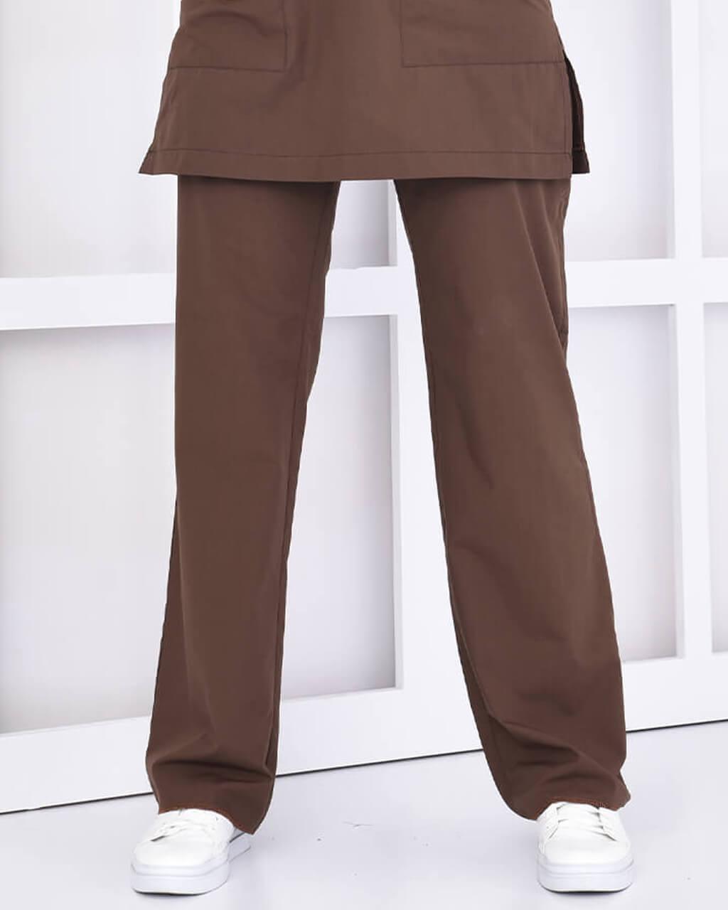 Tesettür Kahverengi Pantolon Terrycotton