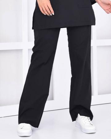 Tesettür Siyah Pantolon Terrycotton Tesettür Hemşire Forması