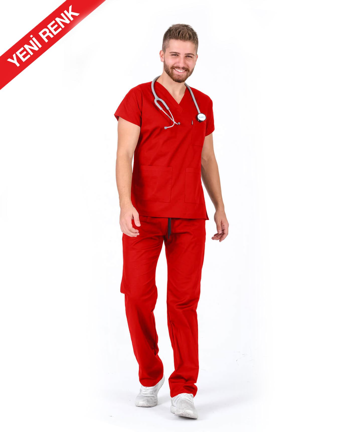 Premium Likralı Seri Relax Kırmızı Yarasa Kol Takım
