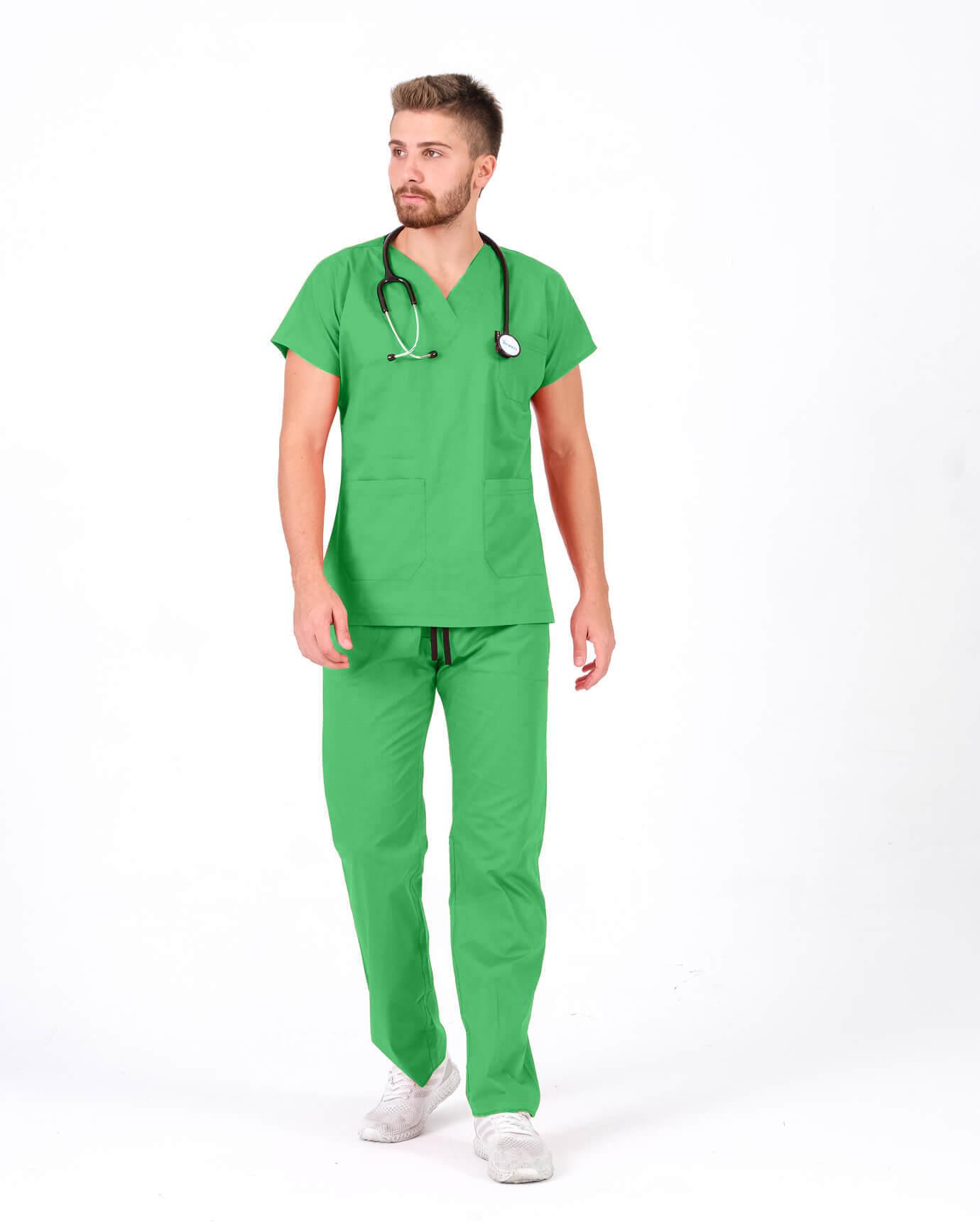 %100 Pamuk Likralı Benetton Yeşili Takım