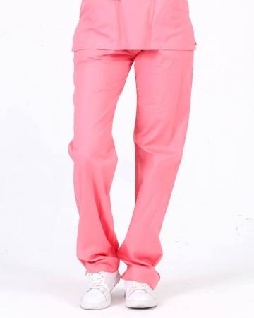 Kadın %100 Pamuk Likralı Mercan Pantolon
