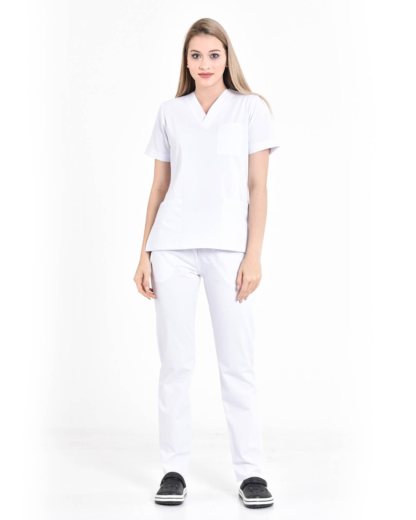 Premium Likralı Seri Relax Beyaz Takma Kol Takım