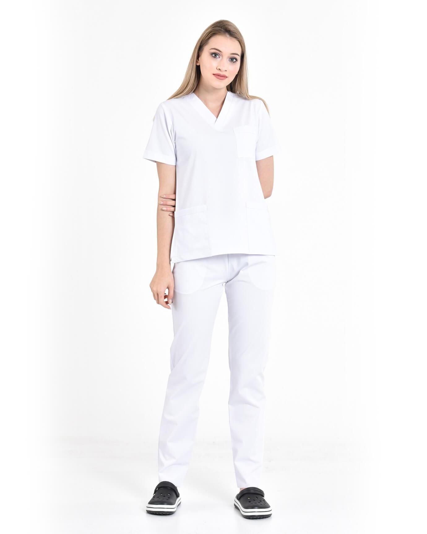 Premium Likralı Seri Relax Beyaz Yarasa Kol Takım