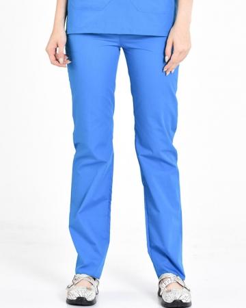 Çivit Mavisi Terrycotton Kadın Doktor ve Hemşire Pantolonu